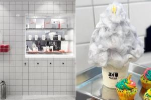 東大門特色打卡甜品Cafe REMICONE 레미콘 療癒系雲朵棉花糖雪糕!