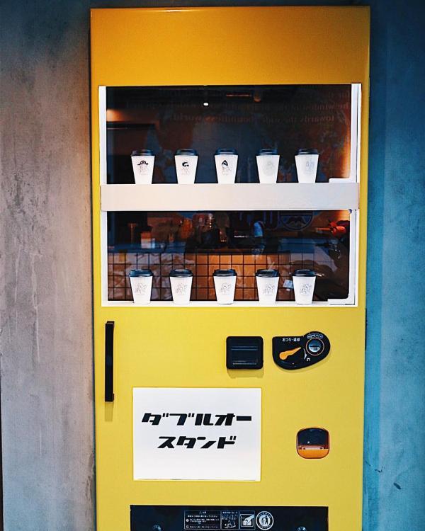 大阪心齋橋文青打卡新潮點  醒目鮮黃咖啡自販機 2