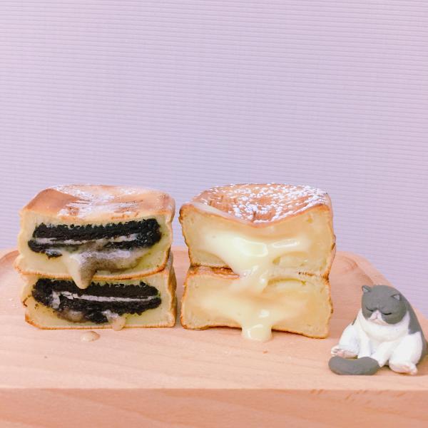 台北夜市新雞蛋糕 創意口味內藏「很有事」金句 2