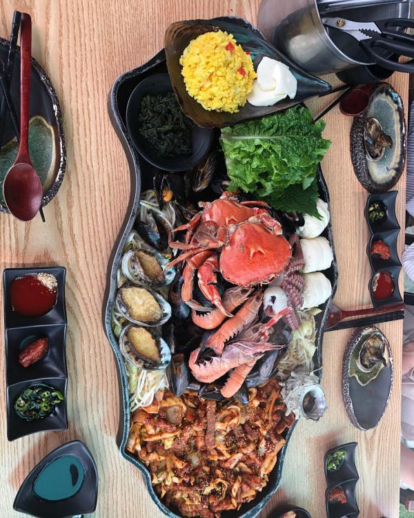 噴火即燒海鮮! 濟州島重量級海鮮拼盤 11