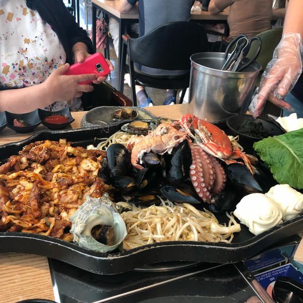 噴火即燒海鮮! 濟州島重量級海鮮拼盤 9