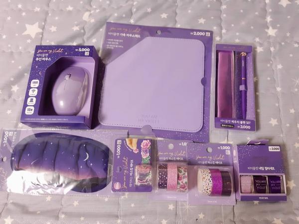 文具/化妝品/連滑鼠都係紫色! 韓國Daiso新推紫色系列 1