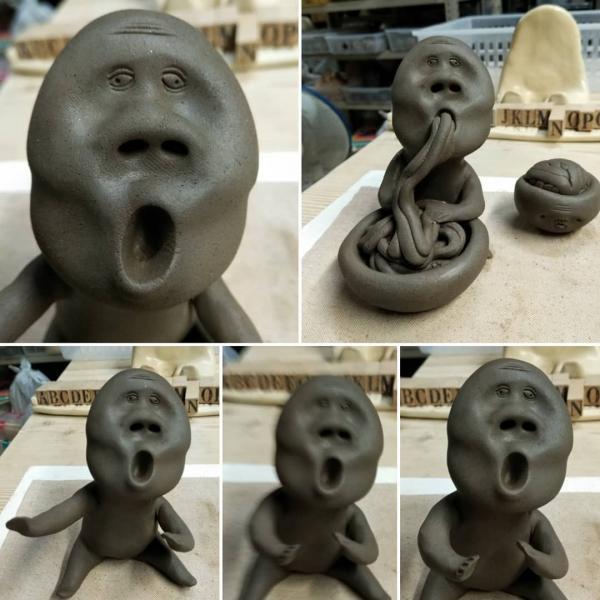 用鼻孔吸麵醜到爆! 日本古怪造型陶器公仔惹笑網民 6