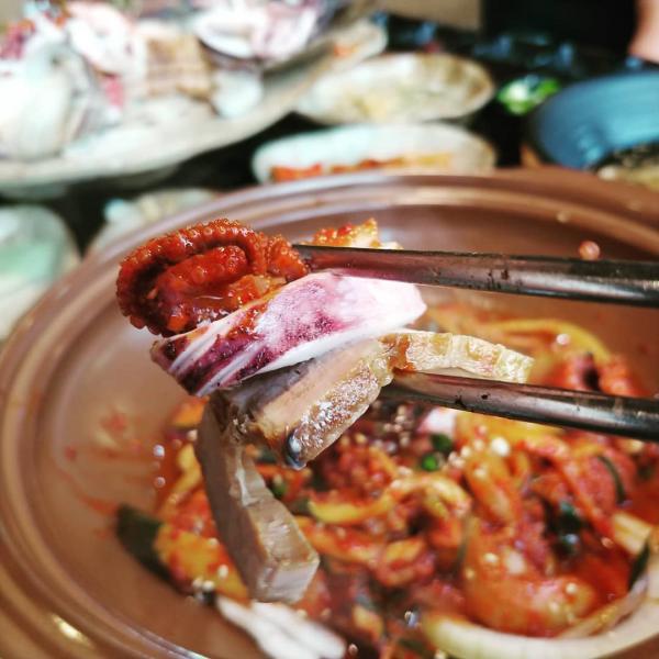 重量級海鮮菜包豬肉! 韓國大王海鮮菜包肉店 10