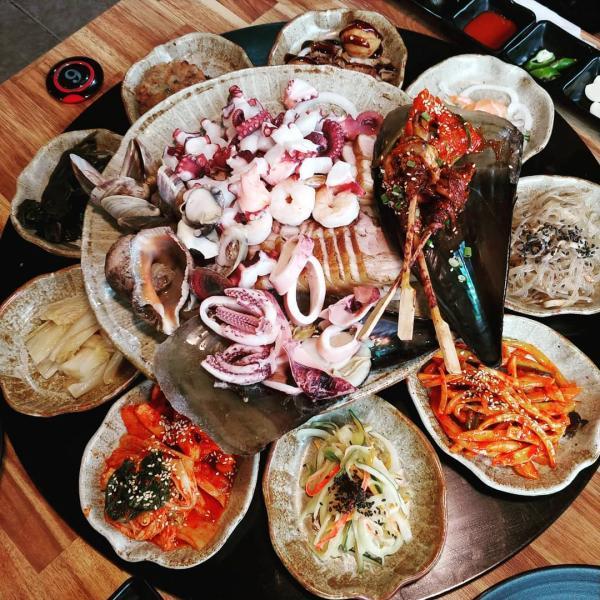 重量級海鮮菜包豬肉! 韓國大王海鮮菜包肉店 18
