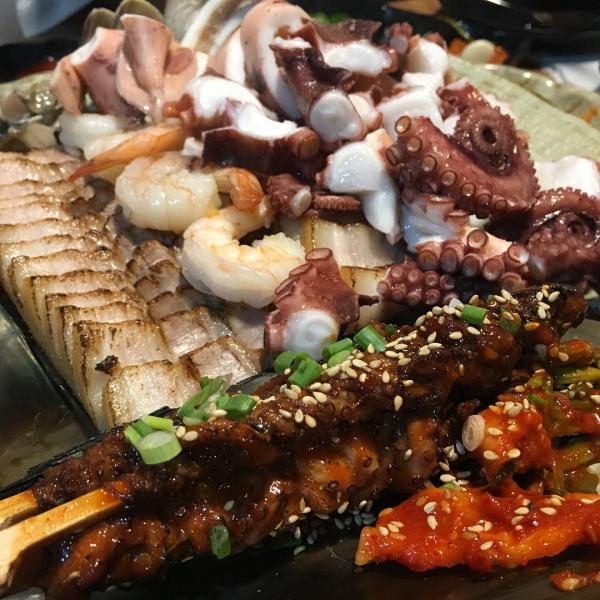 重量級海鮮菜包豬肉! 韓國大王海鮮菜包肉店 14