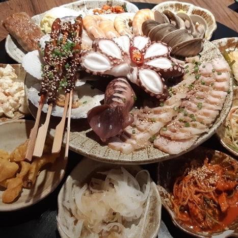 重量級海鮮菜包豬肉! 韓國大王海鮮菜包肉店 5