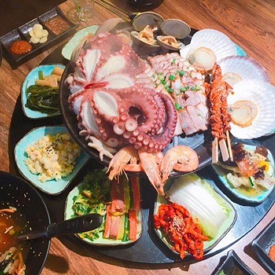 重量級海鮮菜包豬肉! 韓國大王海鮮菜包肉店 13