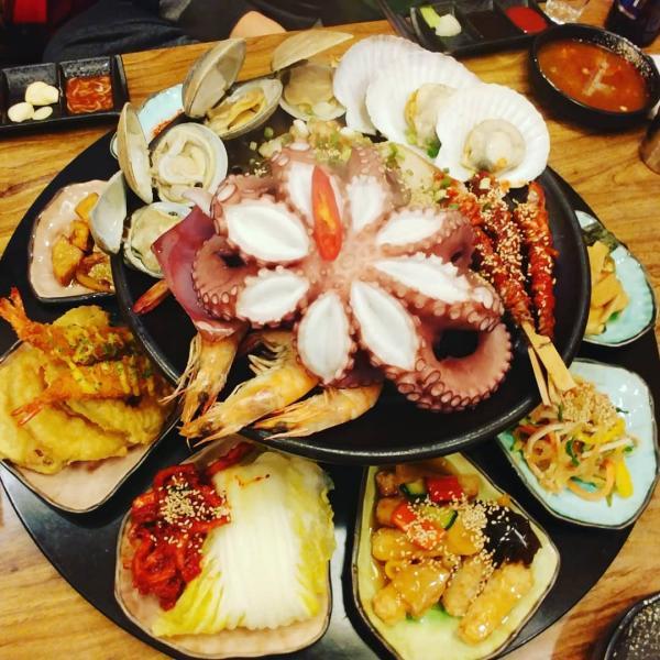 重量級海鮮菜包豬肉! 韓國大王海鮮菜包肉店 3