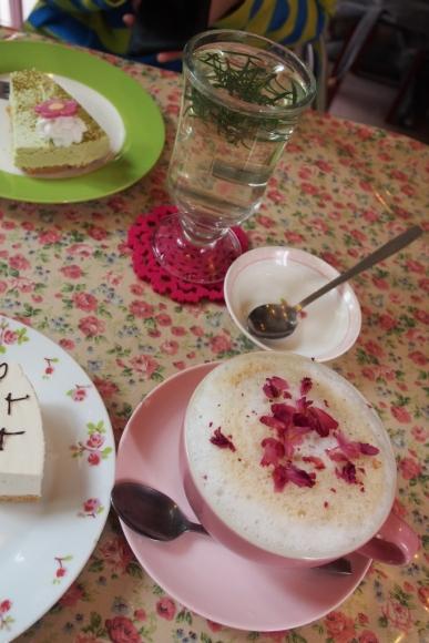 香港 南丫島 榕樹灣 英式下午茶 Shelly Cake Express Rose Latte 豆腐芝士蛋糕