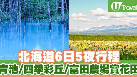 北海道6日5夜行程 青池、四季彩丘、富田農場賞花田